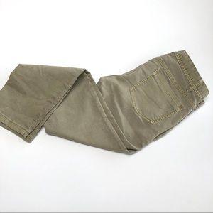 Free people skinny fit tan jeans pants size 30